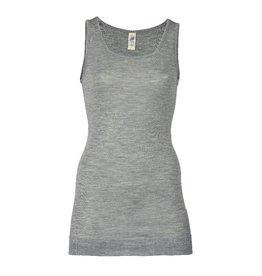 Engel Engel Woman - onderhemd, sl, lang, wol/zijde, lichtgrijs melange