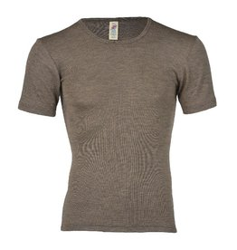 Engel Onderhemd, ss, wol/zijde, walnoot