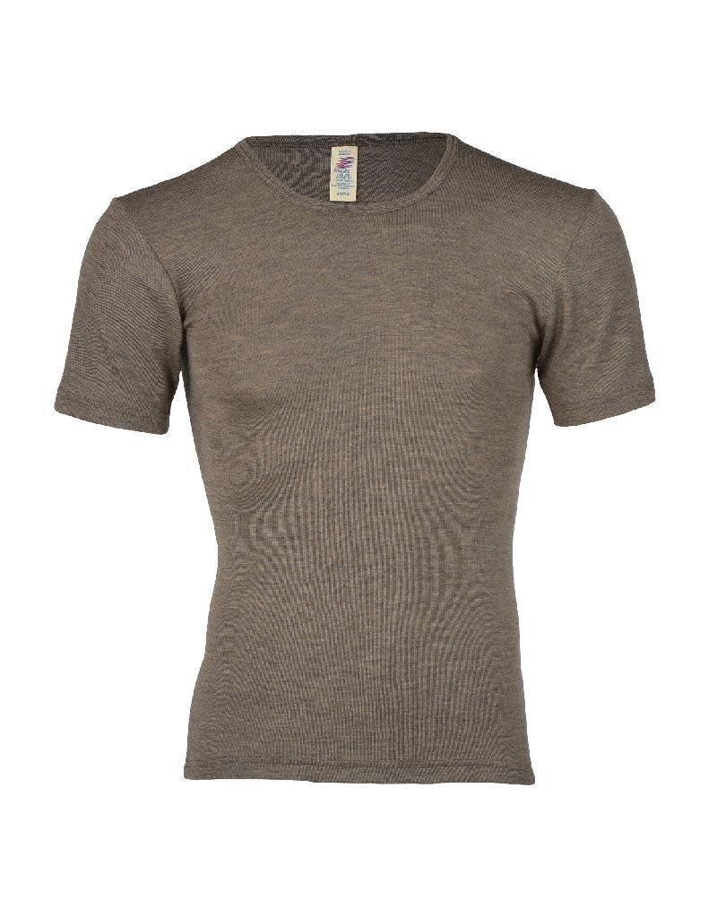 Engel Engel Man - onderhemd, ss, wol/zijde, walnoot