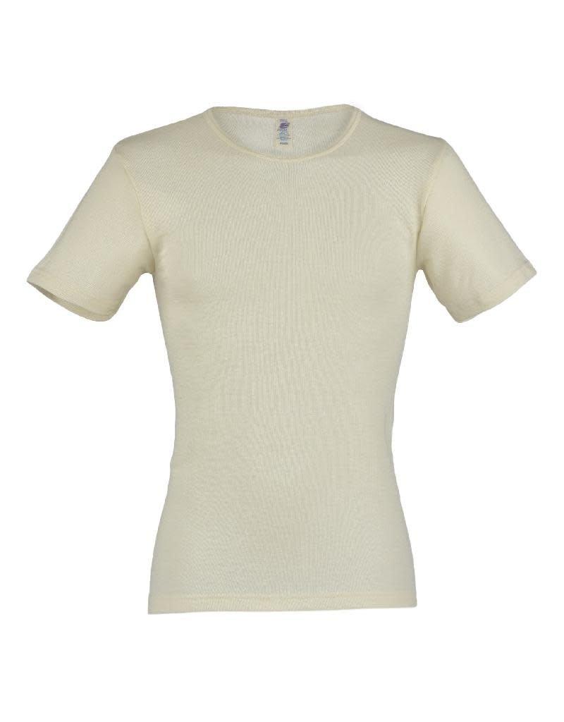 Engel Engel Man - onderhemd, ss, wol/zijde, natuur