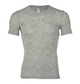 Engel Onderhemd, ss, wol/zijde, lichtgrijs melange