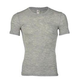 Engel Onderhemd, wol/zijde, lichtgrijs melange