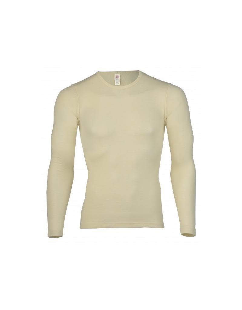 Engel Engel Man - onderhemd, ls, wol/zijde, natuur
