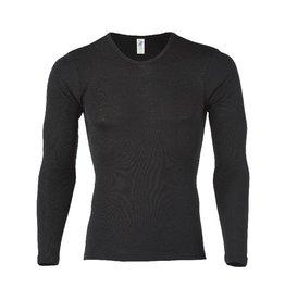 Engel Onderhemd, ls, wol/zijde, zwart