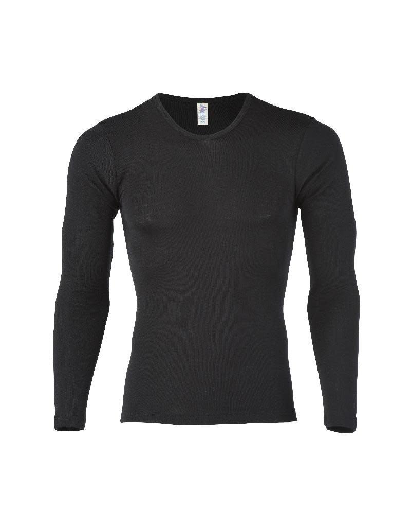 Engel Engel Man - onderhemd, ls, wol/zijde, zwart