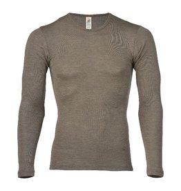 Engel Onderhemd, ls, wol/zijde, walnoot