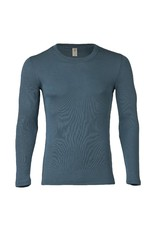 Engel Engel Man - onderhemd, ls, wol/zijde, atlantic