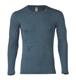 Engel Onderhemd, ls, wol/zijde, atlantic
