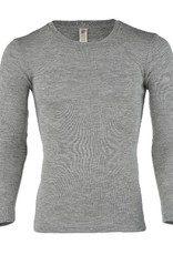 Engel Engel Man - onderhemd, ls, wol/zijde, lichtgrijs melange