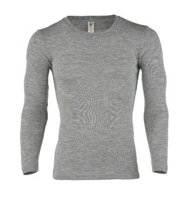 Engel Onderhemd, ls, wol/zijde, lichtgrijs melange