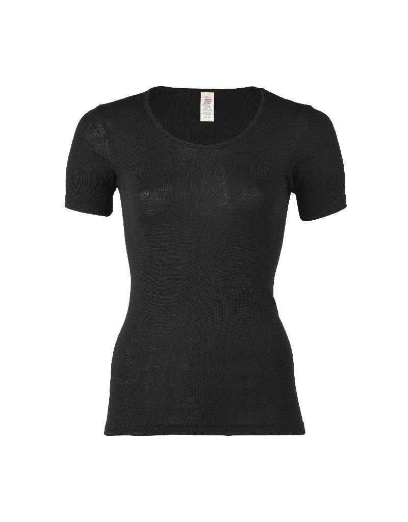 Engel Engel Woman - onderhemd, ss, wol/zijde, zwart