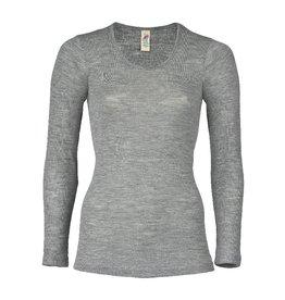 Engel Engel Woman - onderhemd, ls, wol/zijde, lichtgrijs melange