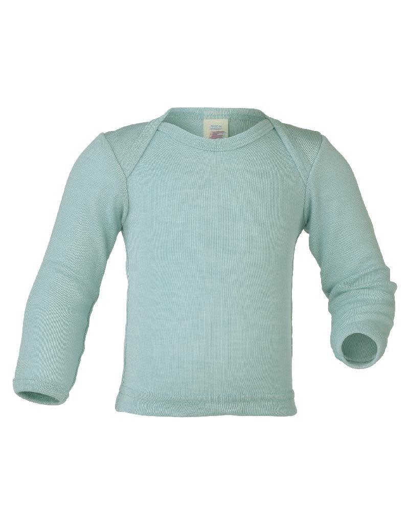 Engel Engel - onderhemd, ls, wol/zijde, gletsjer (0-2j)