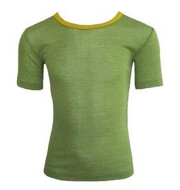 Engel Engel - onderhemd, ss, wol/zijde, lime (3-16j)