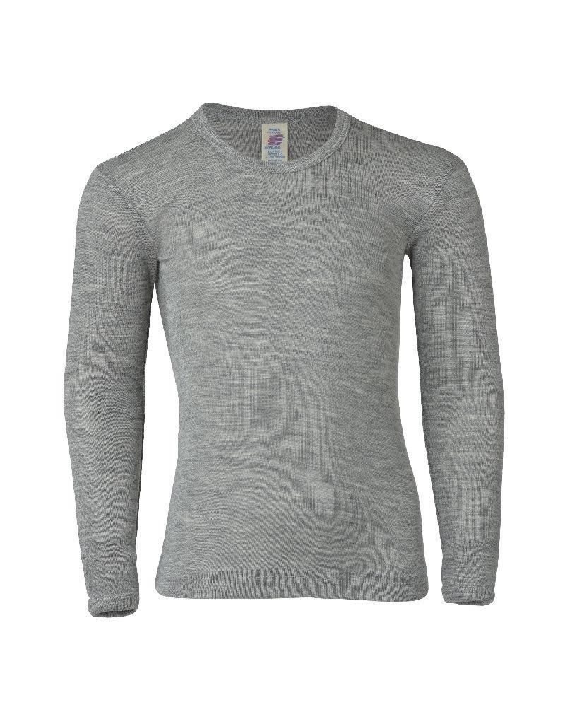 Engel Engel - onderhemd, ls, wol/zijde, lichtgrijs melange (3-16j)