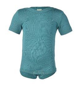Engel Body, ss, wol/zijde, ijsblauw (0-2j)