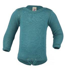 Engel Body, ls, wol/zijde, ijsblauw (3-16j)