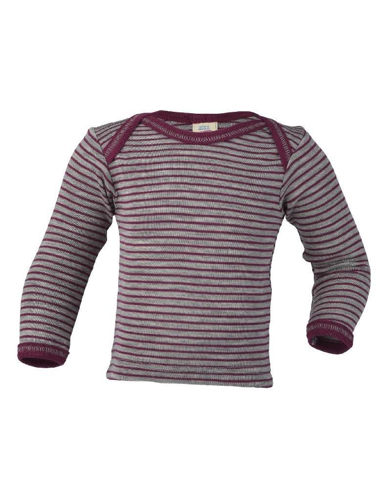 Engel Engel - onderhemd, ls, wol/zijde, grijs/orchidee (0-2j)