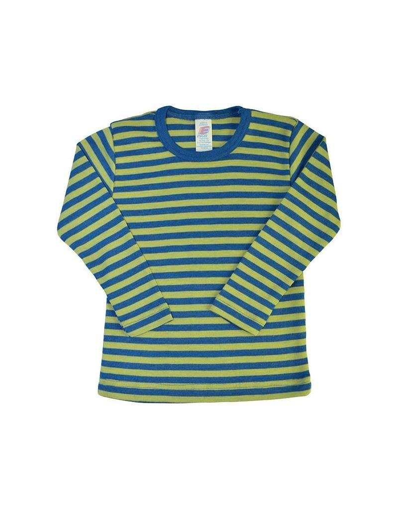 Engel Engel - onderhemd, ls, wol/zijde, oceaanblauw/kiwi (3-16j)
