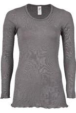 Engel Engel Woman - pyjamashirt, lang, wol/zijde, taupe