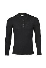Engel Engel Man - shirt, knoopjes, wol/zijde, zwart