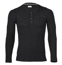 Engel Shirt, knoopjes, wol/zijde, zwart