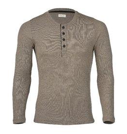 Engel Shirt, knoopjes, wol/zijde, walnoot