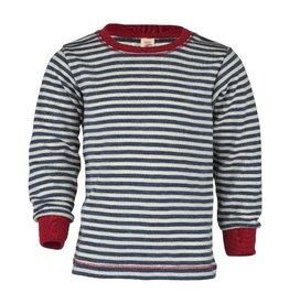 Engel Shirt, wol, blauw melange/natuur (3-16j)