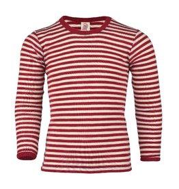 Engel Engel - onderhemd, ls, wol, rood melange/natuur (3-16j)