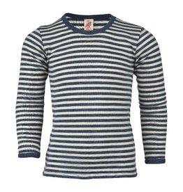 Engel Engel - onderhemd, ls, wol, blauw melange/natuur (3-16j)