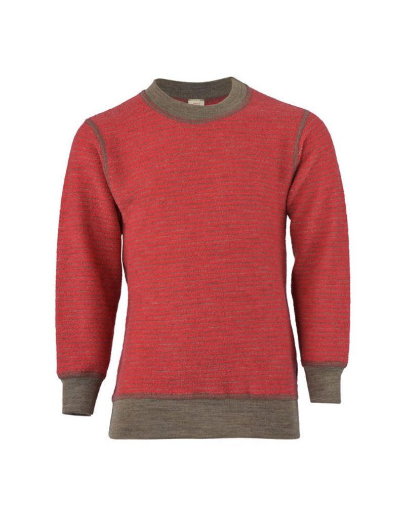 Engel Engel - pyjamatrui/sweater, badstof, wol, hibiscusrood/zand (3-16j)