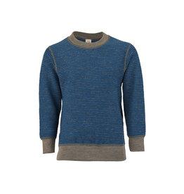 Engel Engel - pyjamatrui/sweater, badstof, wol, oceaanblauw/zand (3-16j)