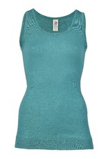 Engel Engel Woman - onderhemd, sl, lang, wol/zijde, ijsblauw