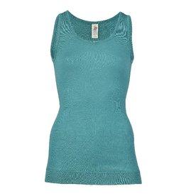 Engel Onderhemd, sl, lang, wol/zijde, ijsblauw
