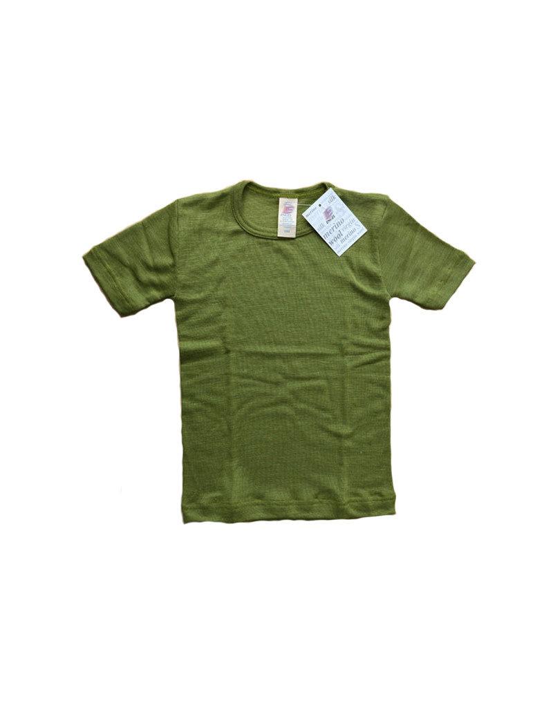 Engel Engel - onderhemd, ss, wol/zijde, pistache (3-16j)