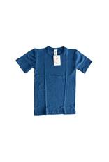 Engel Engel - onderhemd, ss, wol/zijde, oceaanblauw (3-16j)