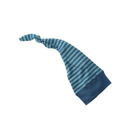 Engel Muts, wol/zijde, oceaanblauw/ijsblauw (0-2j)