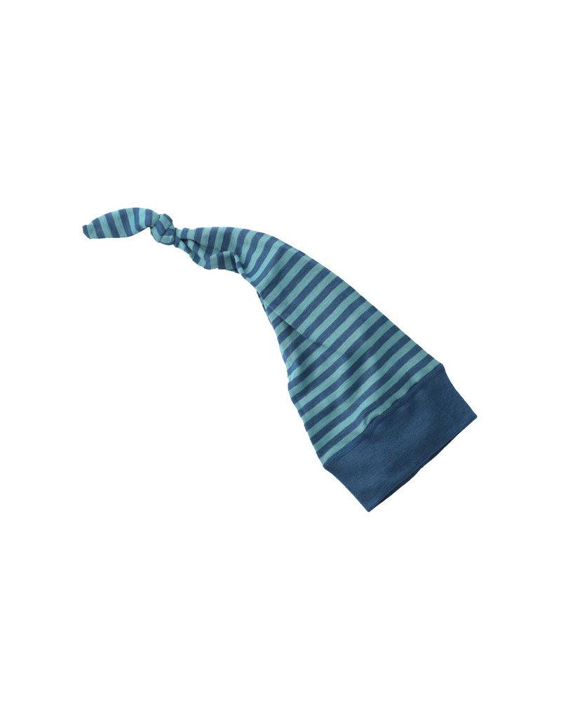 Engel Engel - muts, wol/zijde, oceaanblauw/ijsblauw (0-2j)