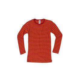 Engel Onderhemd, wol/zijde, kersenrood/oranje (3-16j)