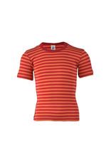 Engel Engel - onderhemd, ss, wol/zijde, kersenrood/oranje (3-16j)