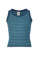 Engel Engel - onderhemd, sl, wol/zijde, oceaanblauw/ijsblauw (3-16j)