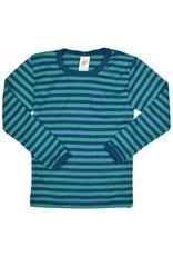Engel Engel - onderhemd, ls, wol/zijde, oceaanblauw/ijsblauw (3-16j)