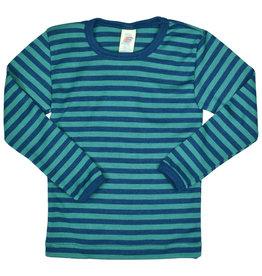 Engel Onderhemd, ls, wol/zijde, oceaanblauw/ijsblauw (3-16j)