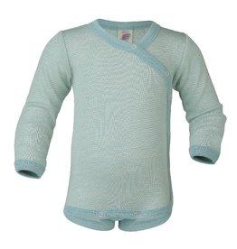 Engel Body, ls, kimono, wol/zijde, gletsjer/natuur (0-2j)