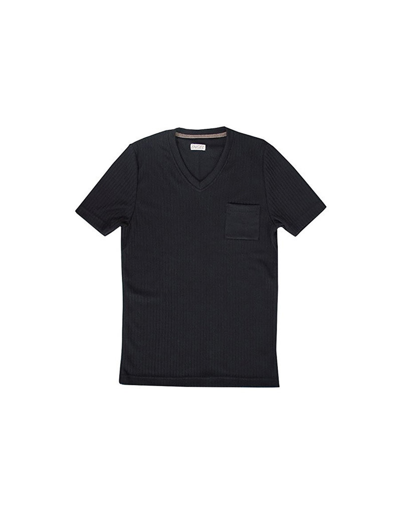 Engel Engel Man - T-shirt, wol/zijde, zwart