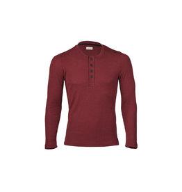 Engel Shirt, knoopjes, wol/zijde, burgundy