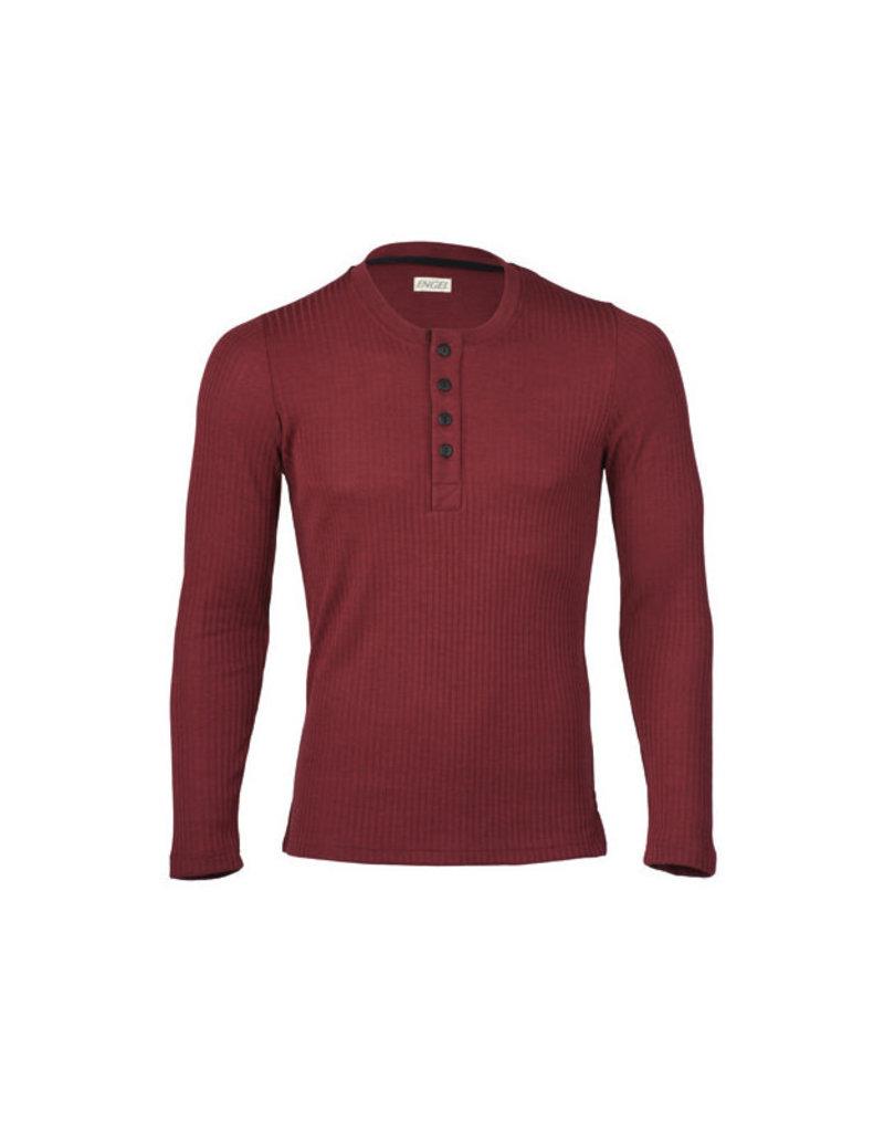 Engel Engel Man - shirt, knoopjes, wol/zijde, burgundy