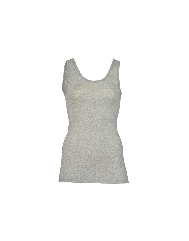 Engel Engel Woman - onderhemd, sl, katoen, lichtgrijs