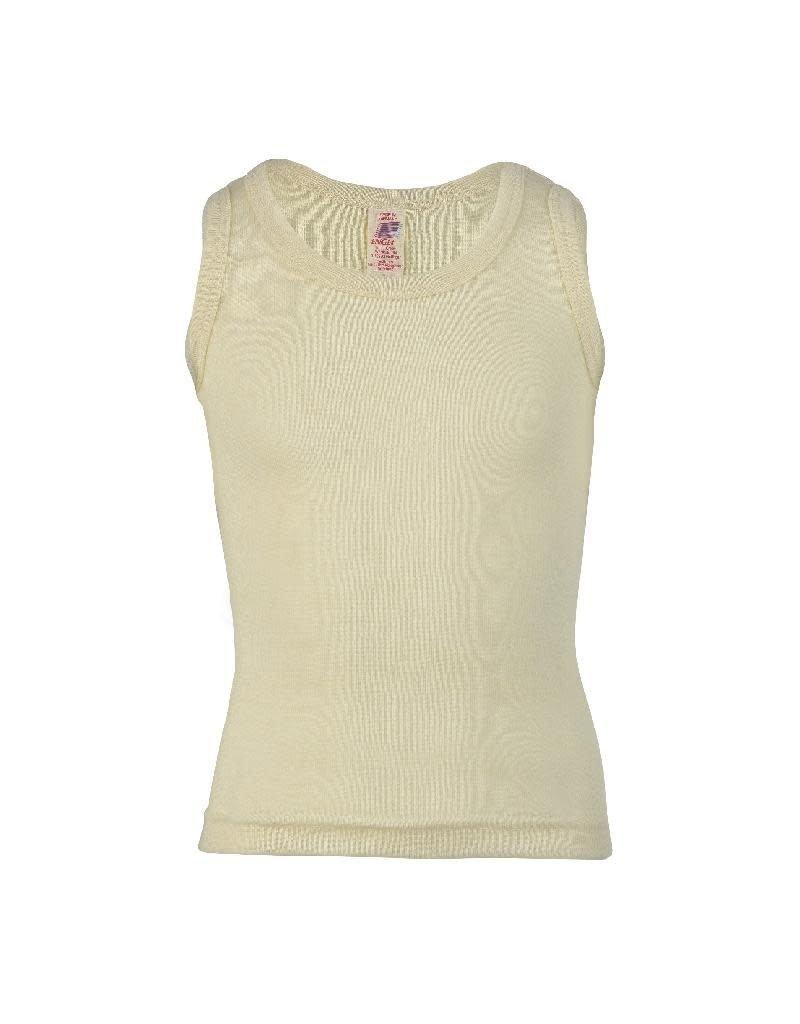 Engel Engel - onderhemd, sl, wol, natuur (3-16j)