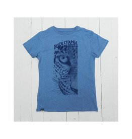 Lion of Leisure T-shirt, blue, leopard (3-16j)